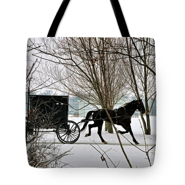 Winter Buggy Tote Bag