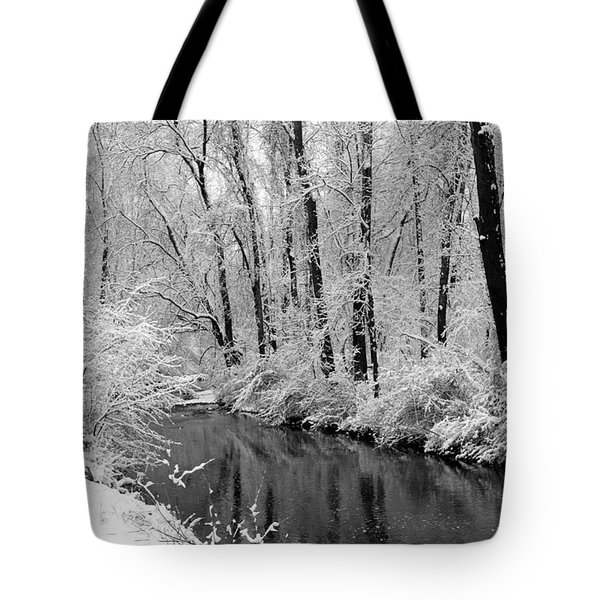Winter By Crum Creek Tote Bag