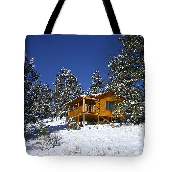Winter Cabin Tote Bag