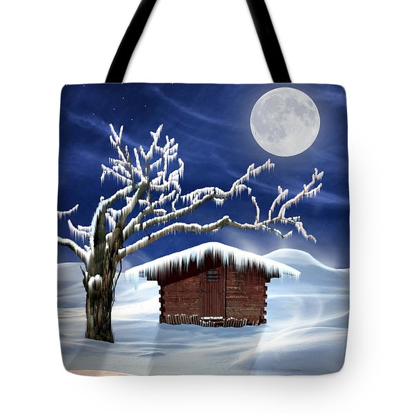 Winter Cabin Tote Bag by Nina Bradica