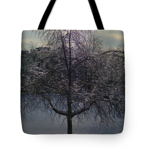 Winter Candelabrum Tote Bag