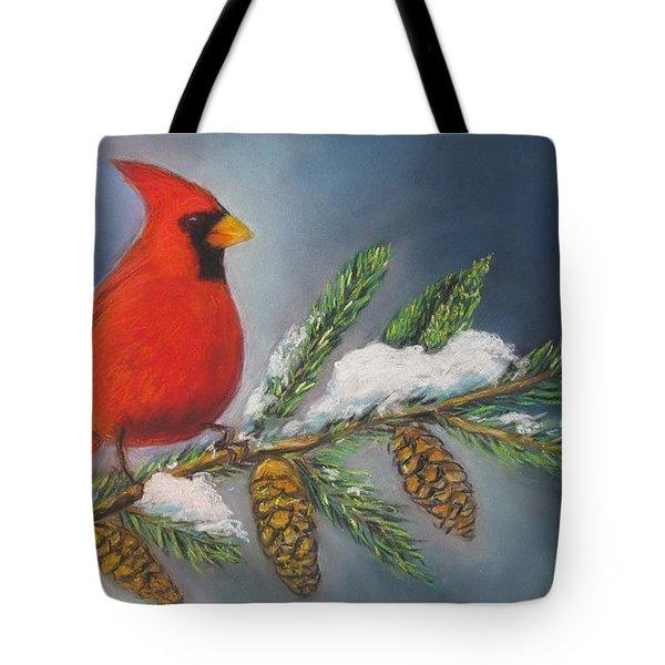 Winter Cardinal 2 Tote Bag