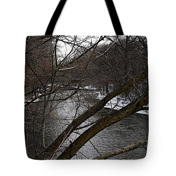 Winter Cedar Tote Bag