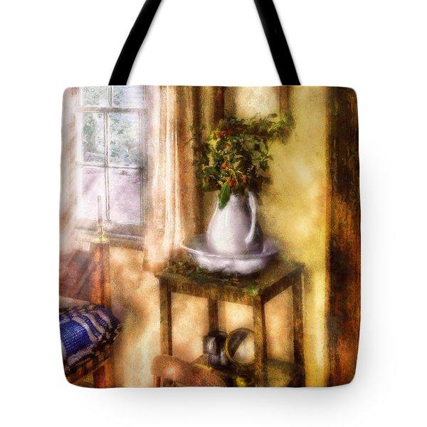 Winter - Christmas - Early Christmas Morning Tote Bag by Mike Savad