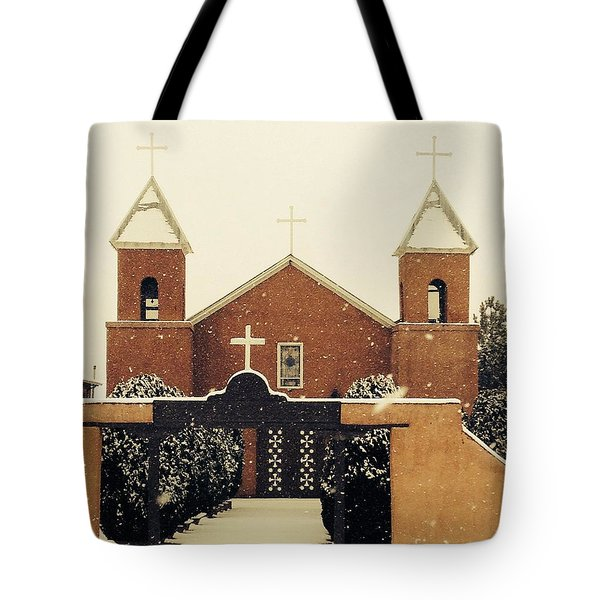 Winter Church Tote Bag