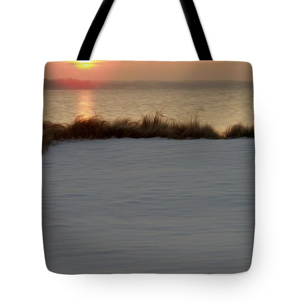 Tote Bag featuring the digital art Winter Coast by Kelvin Booker