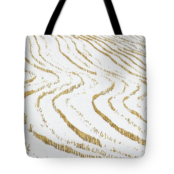 Tote Bag featuring the photograph Winter Cornfield by Alan L Graham