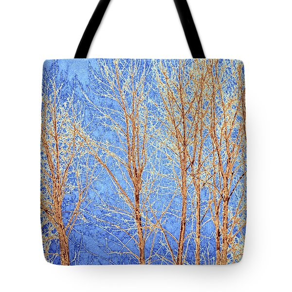 Winter Cottonwoods Abstract Tote Bag by Will Borden