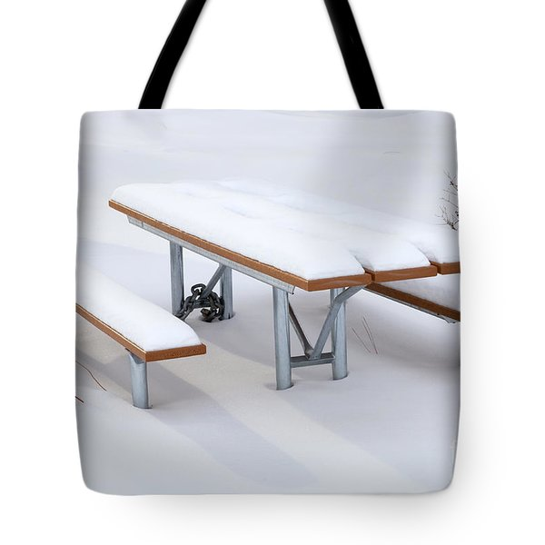 Winter Cover Tote Bag by Mike  Dawson