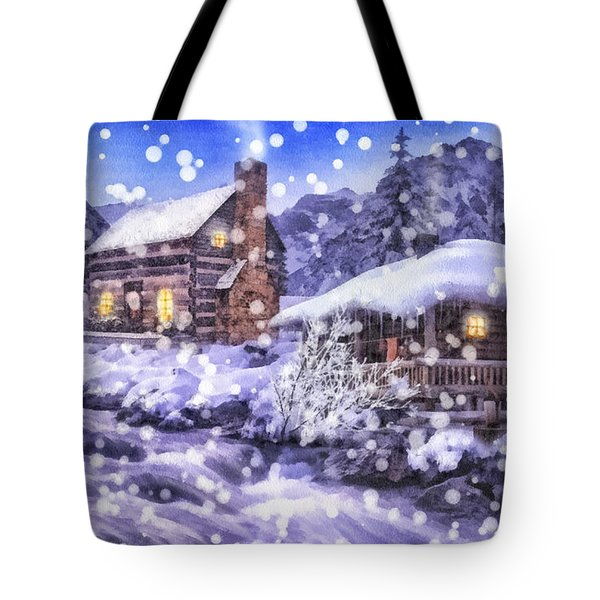 Winter Creek Tote Bag by Mo T