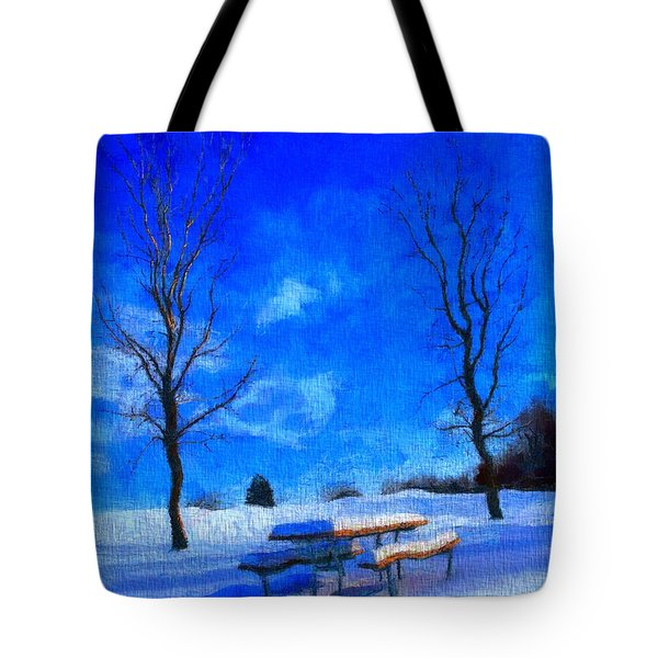Winter Day On Canvas Tote Bag by Dan Sproul