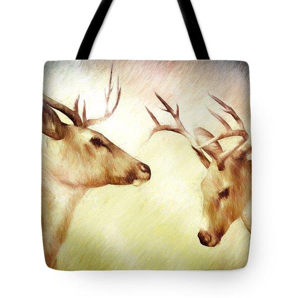 Winter Deer Tote Bag by Bob Orsillo