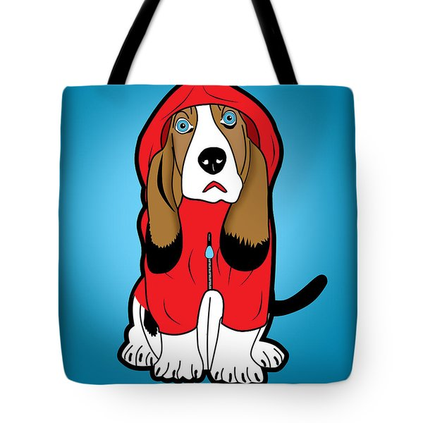 Winter Dog  Tote Bag