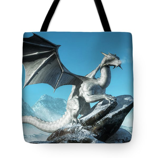 Winter Dragon Tote Bag