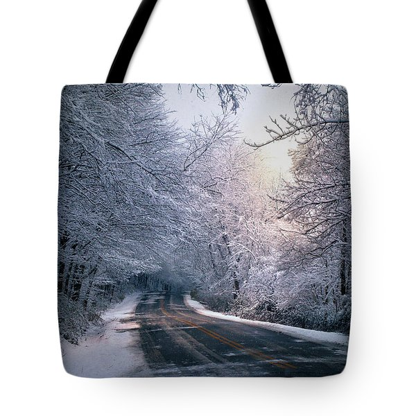 Winter Drive Tote Bag