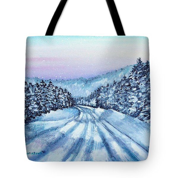Winter Drive Tote Bag by Shana Rowe Jackson