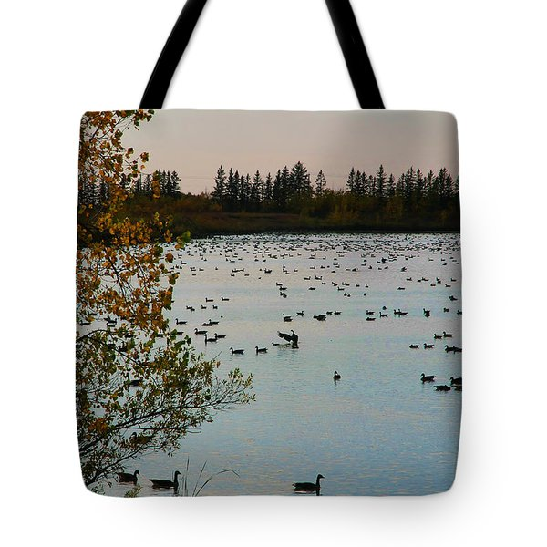 Winter Escape Gathering Tote Bag by Teresa Zieba