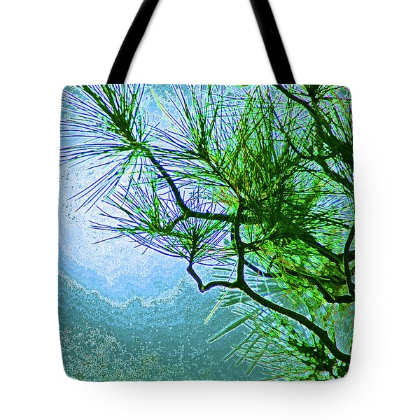 Winter Evergreen  Tote Bag by First Star Art