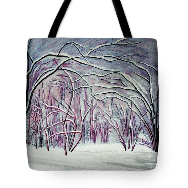 Winter Fairies Tote Bag by Barbara McMahon