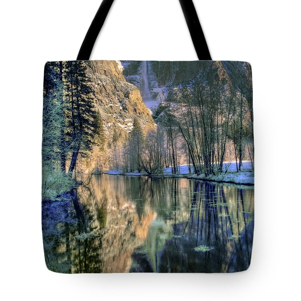 Winter Falls Tote Bag by Bill Gallagher