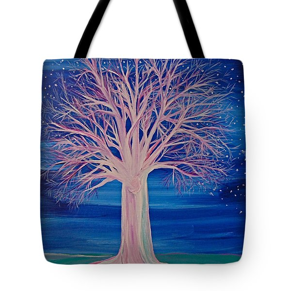 Winter Fantasy Tree Tote Bag