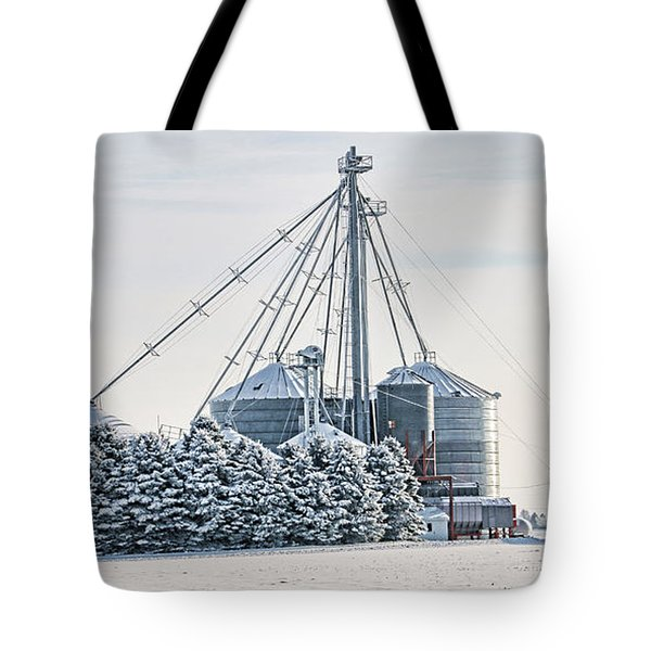 Winter Farm  7365 Tote Bag by Jack Schultz