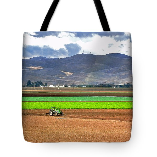 Winter Farm In California Tote Bag