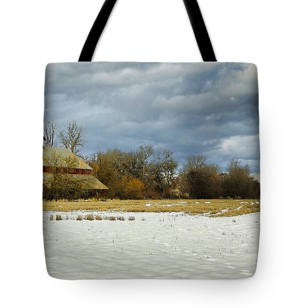 Winter Farm Tote Bag by Steve McKinzie