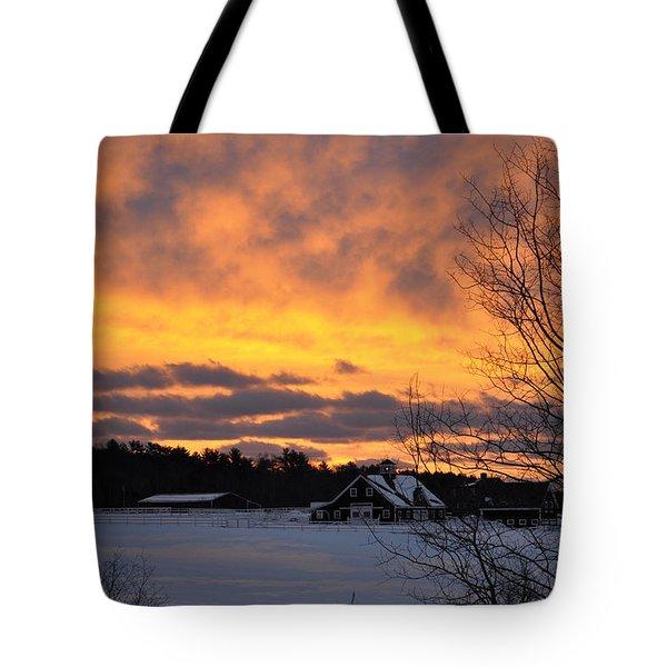 Winter Fire Tote Bag