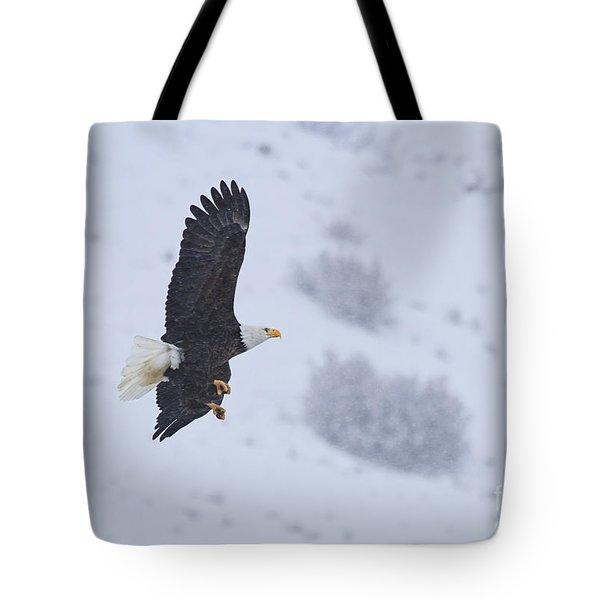 Winter Flight Tote Bag by Mike  Dawson