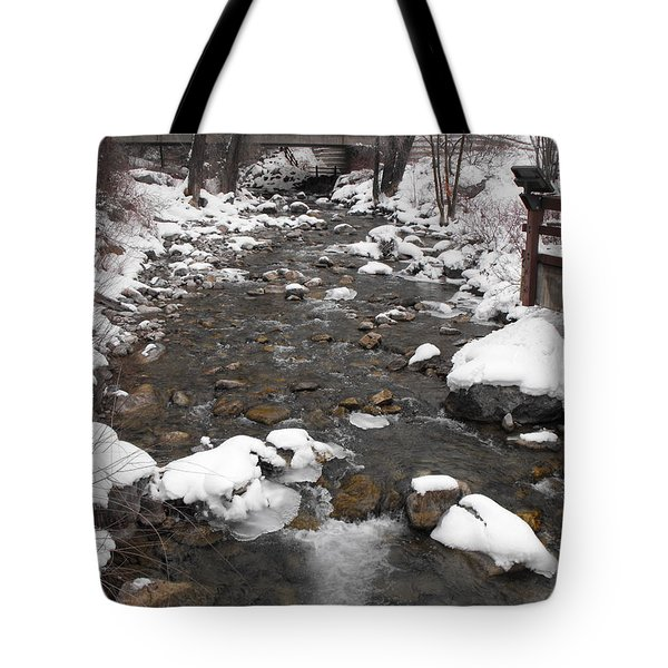 Winter Flow Tote Bag
