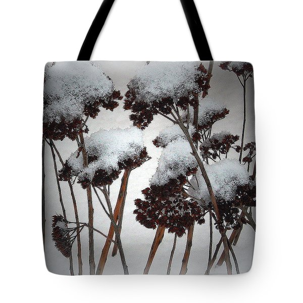 Winter Flowers Tote Bag by Mikki Cucuzzo