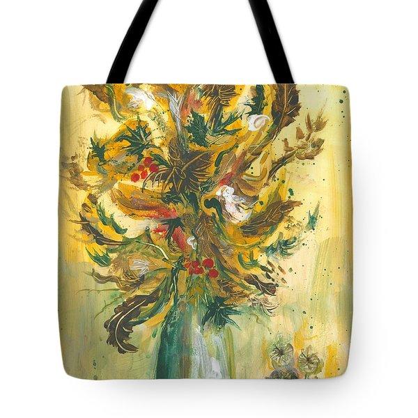 Winter Flowers Tote Bag
