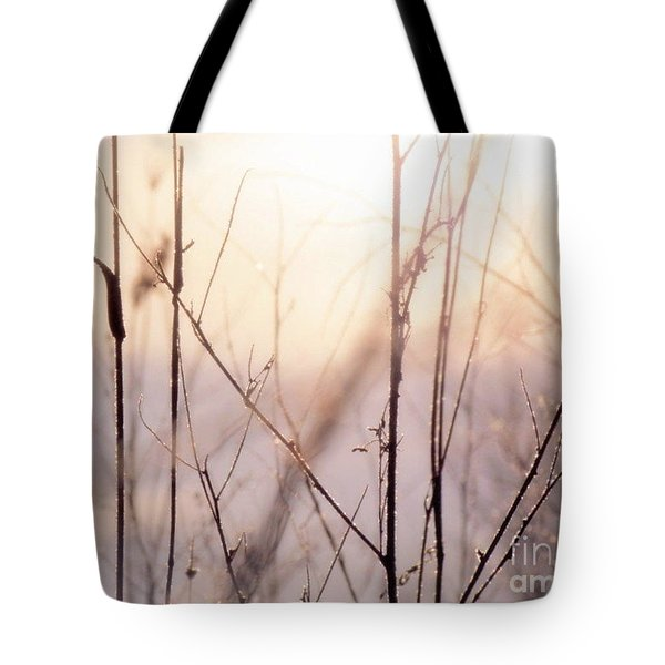 Tote Bag featuring the photograph Winter Flox by France Laliberte