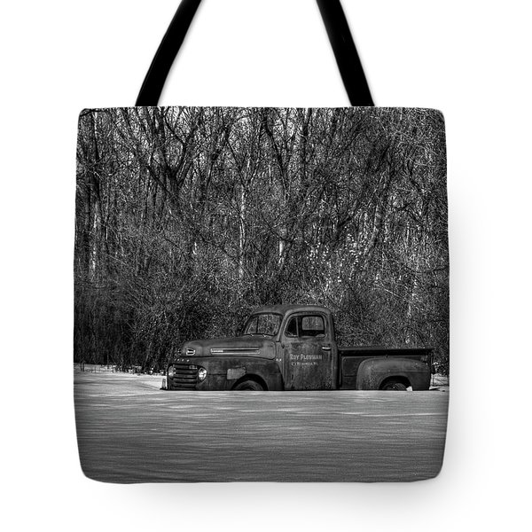 Winter Ford Truck 1 Tote Bag by Thomas Young