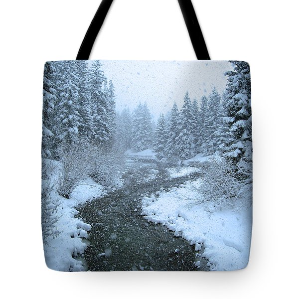 Winter Forest Tote Bag by David Rucker