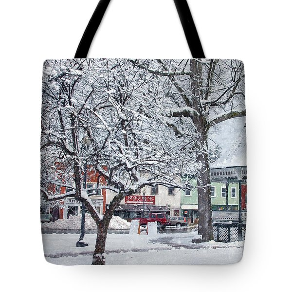 Winter Gazebo Tote Bag by Joann Vitali