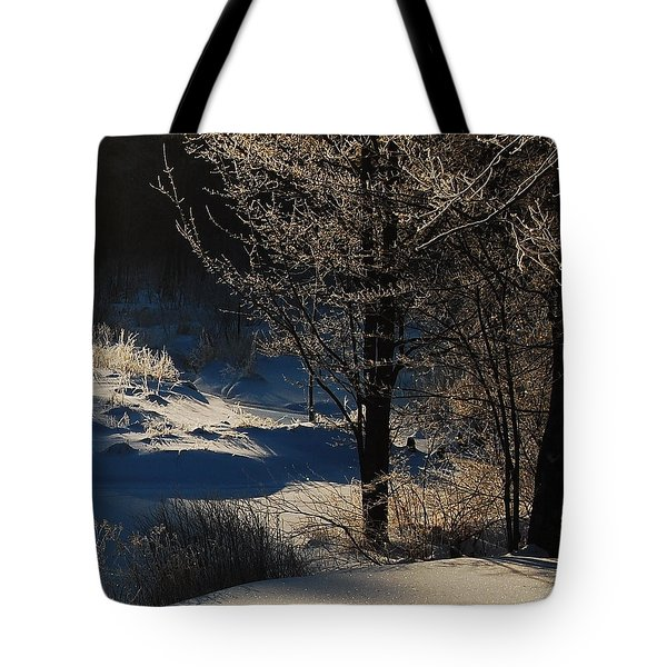 Tote Bag featuring the photograph Winter Glow by Mim White