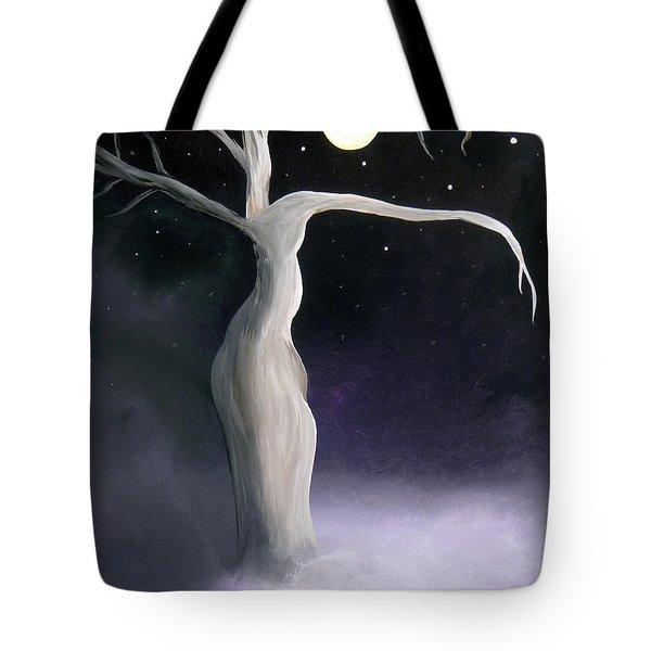 Winter Goddess Tote Bag by Alys Caviness-Gober