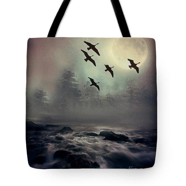 Winter Golden Hour Tote Bag