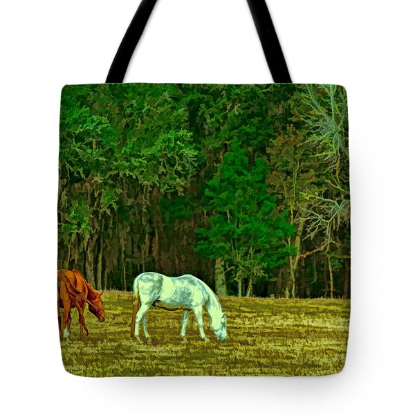 Winter Grazing In North Florida Tote Bag