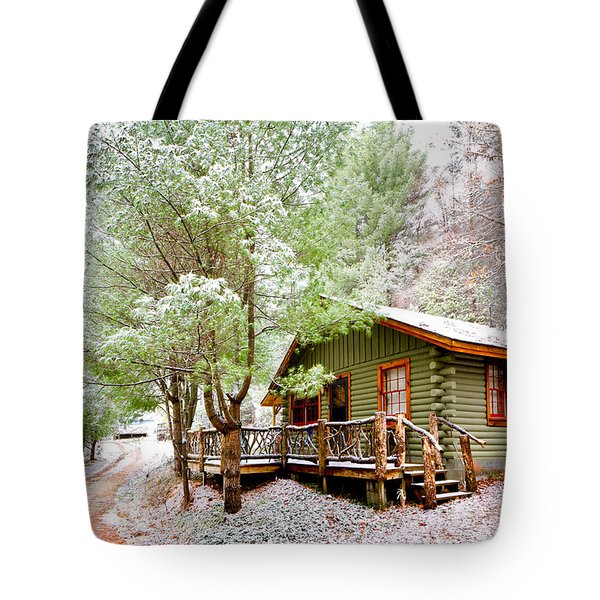 Winter Green Tote Bag by Debra and Dave Vanderlaan