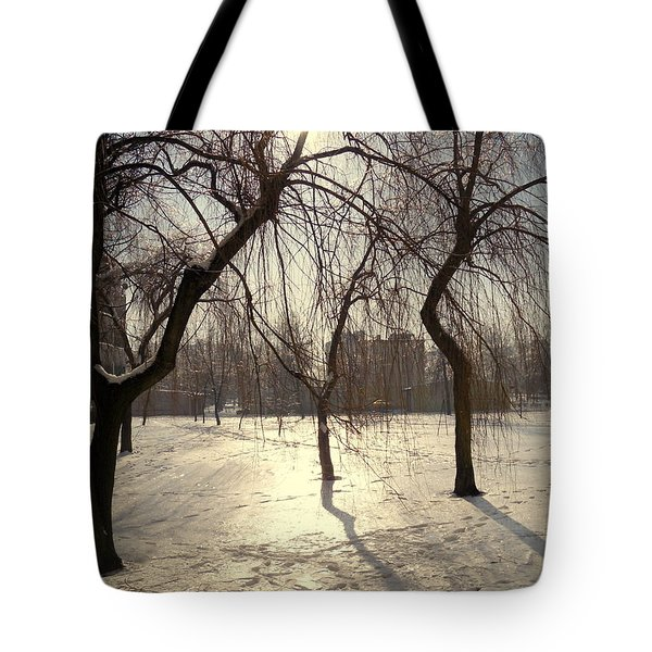 Willows In Winter Tote Bag by Henryk Gorecki