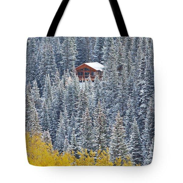 Winter Hideaway Tote Bag