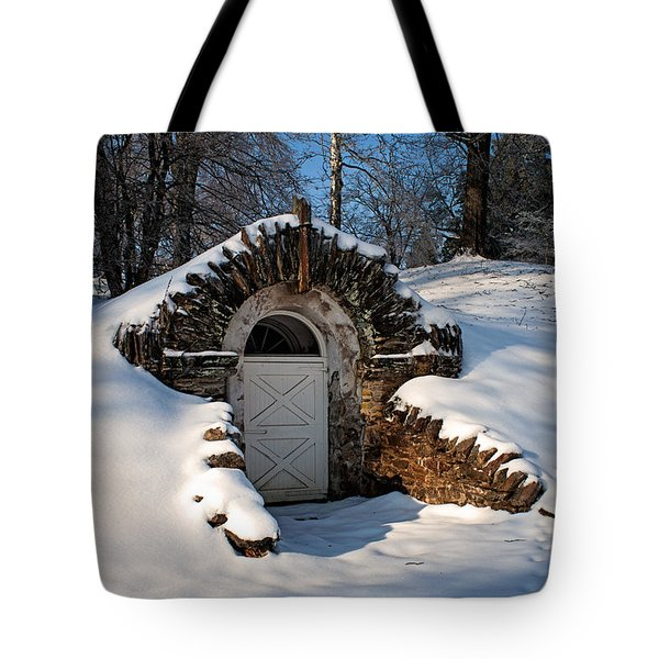 Winter Hobbit Hole Tote Bag