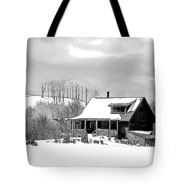 Winter Home Tote Bag by John Haldane