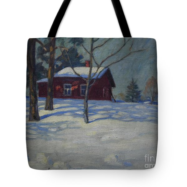 Winter House Tote Bag