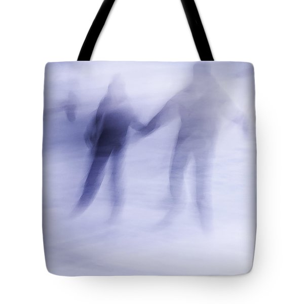 Tote Bag featuring the photograph Winter Illusions On Ice - Series 1 by Steven Milner