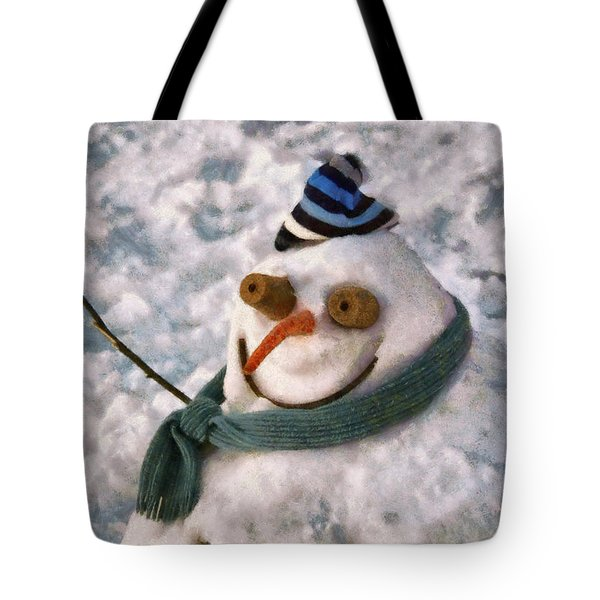 Winter - I'm Ready For My Closeup Tote Bag by Mike Savad