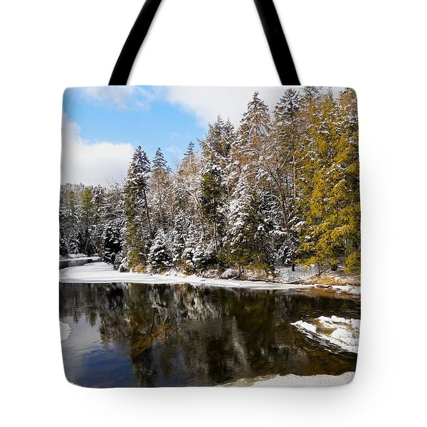Tote Bag featuring the photograph Winter Impressions ... by Juergen Weiss